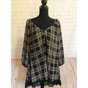 Massini Black Flannel Tunic